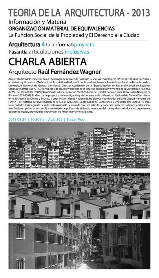 Charla Raúl Fernandez Wagner