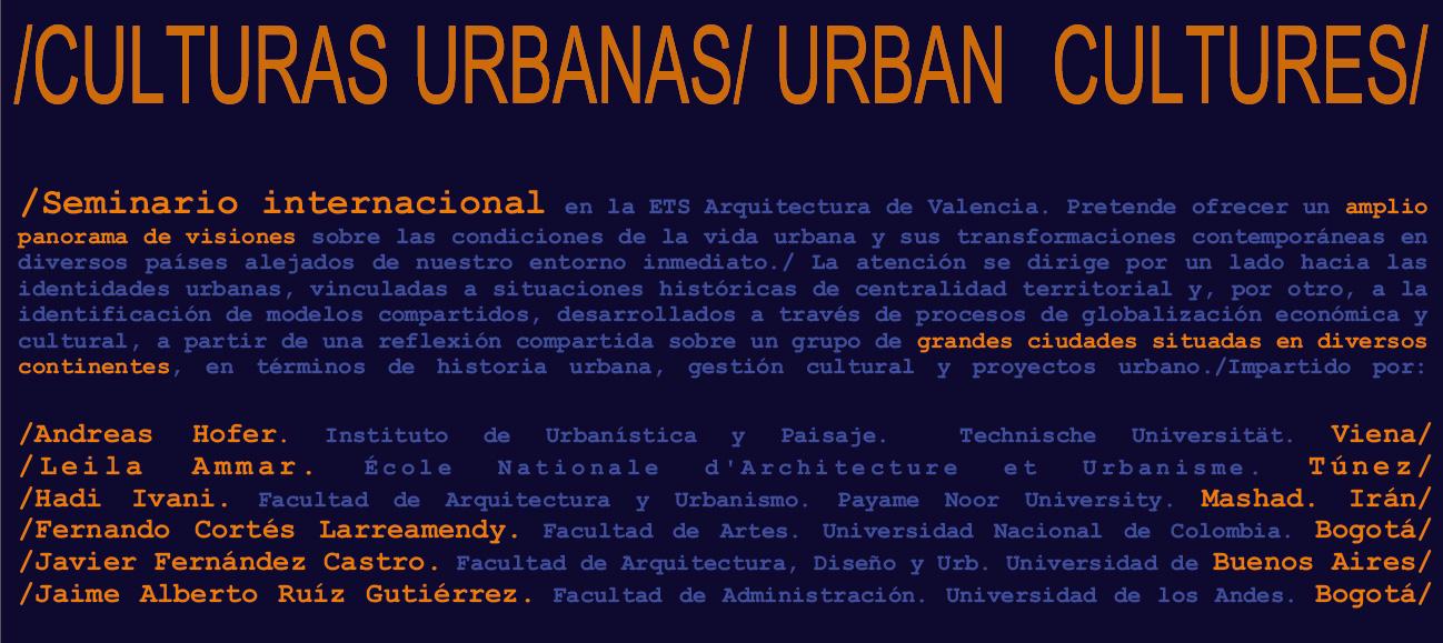 SEMINARIO INT-CULTURAS URBANAS