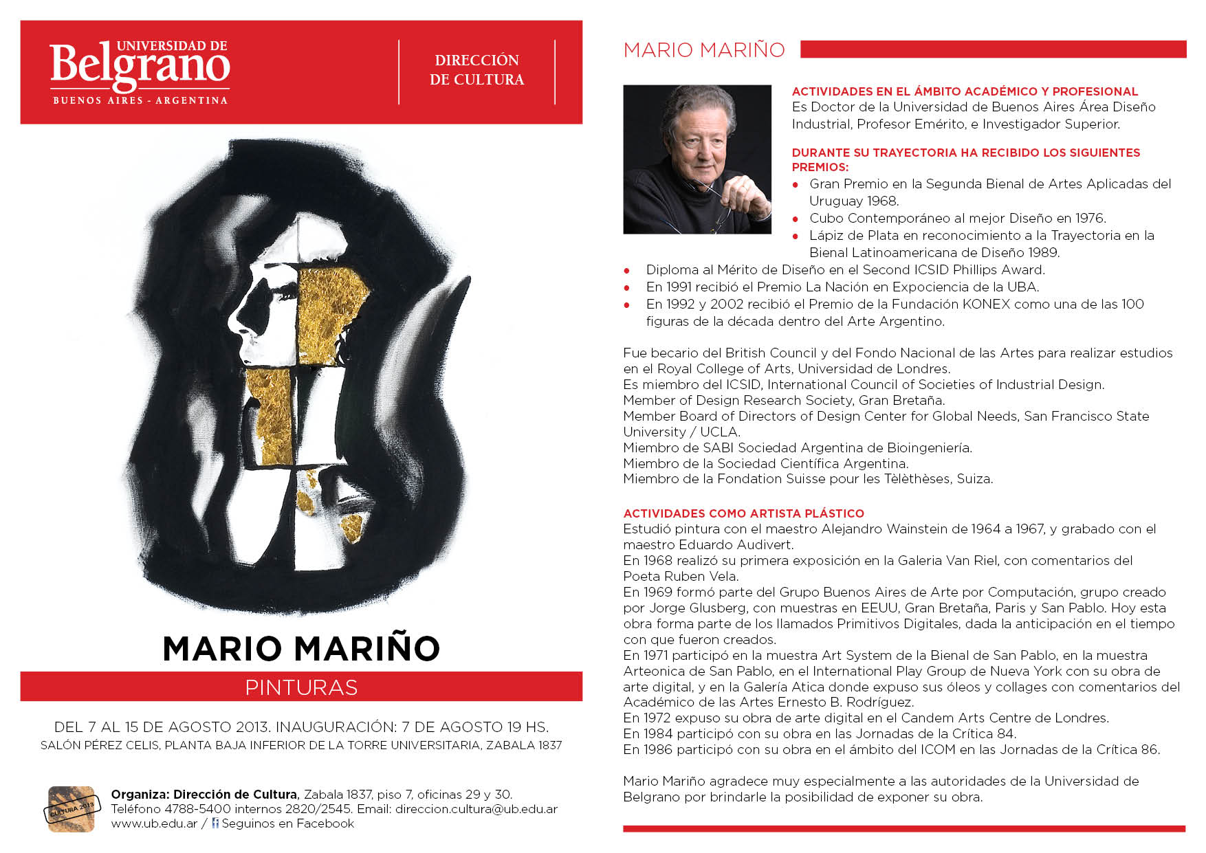 Tarjetón Mario Mariño